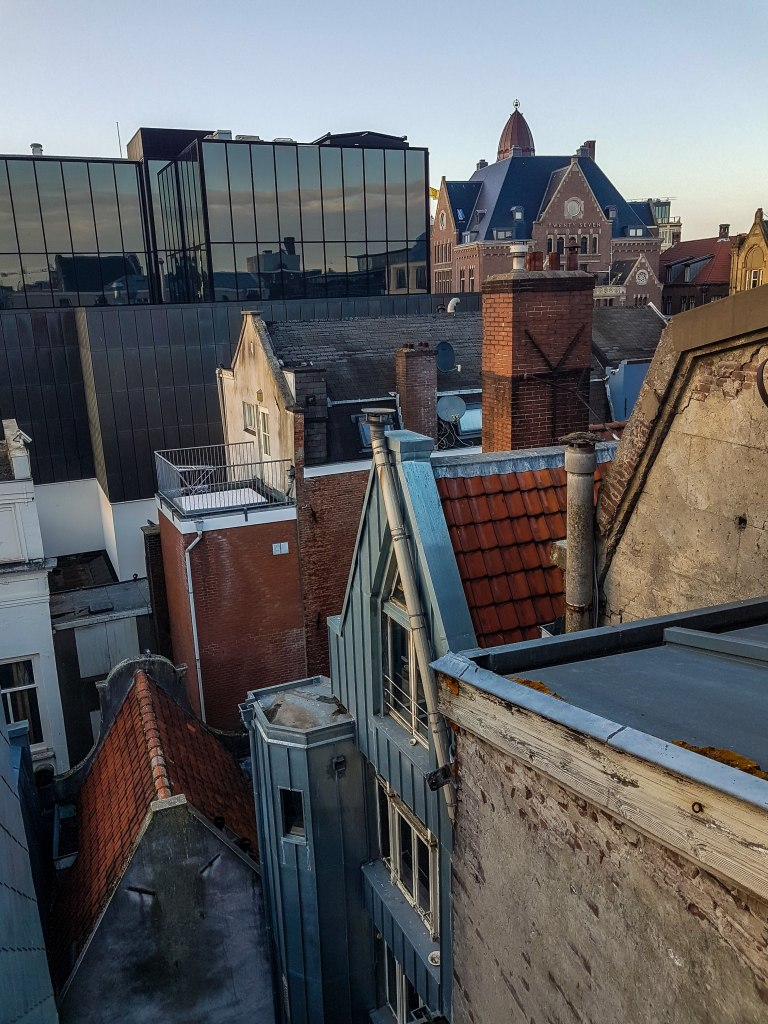 Amsterdam houses and roofs from the terrace