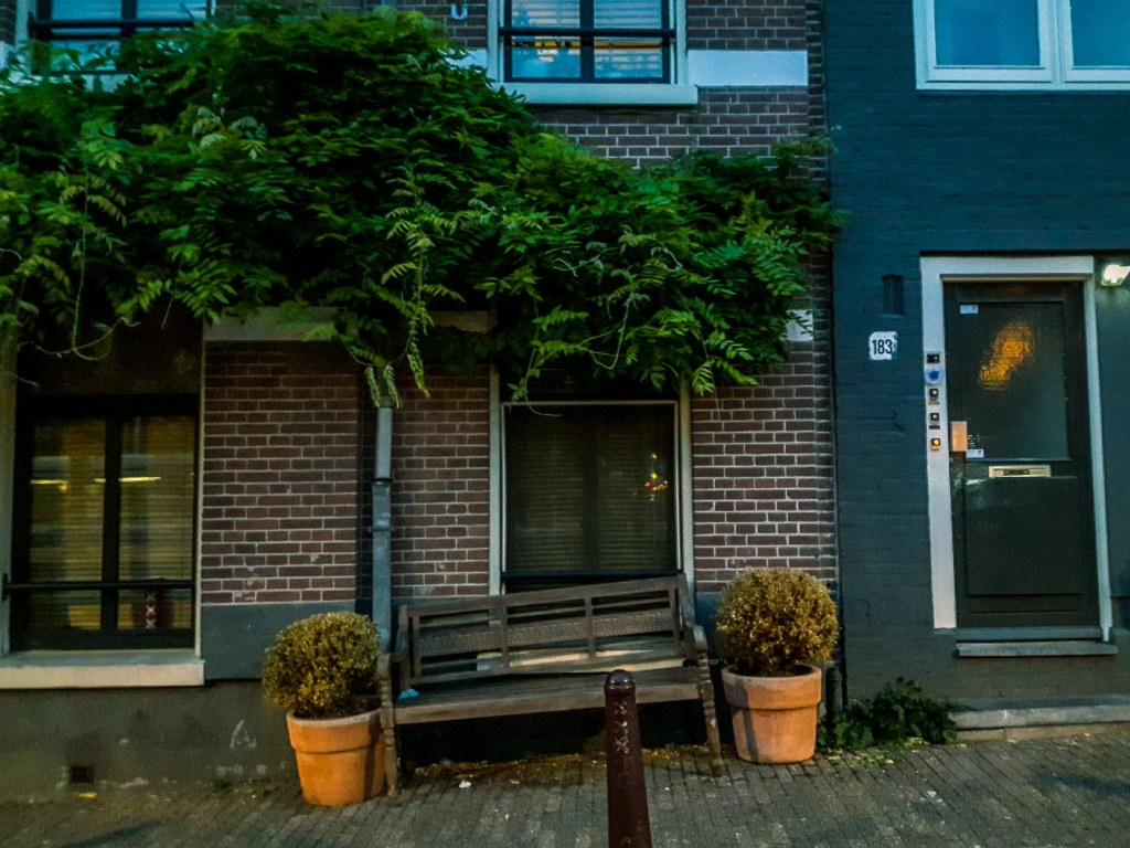 A typical Amsterdam narrow street