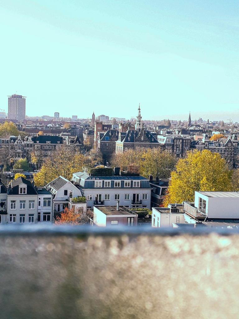 Rooftop view over Amsterdam city