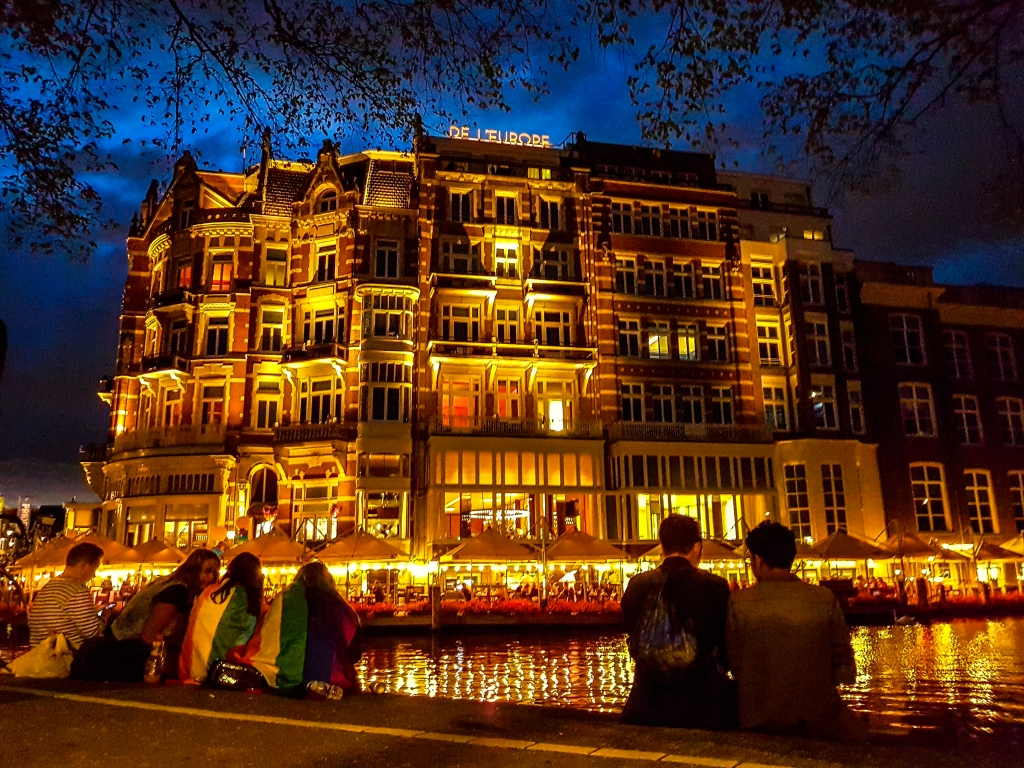 Hotel De L'Europe in Amsterdam in the time of Gay Pride