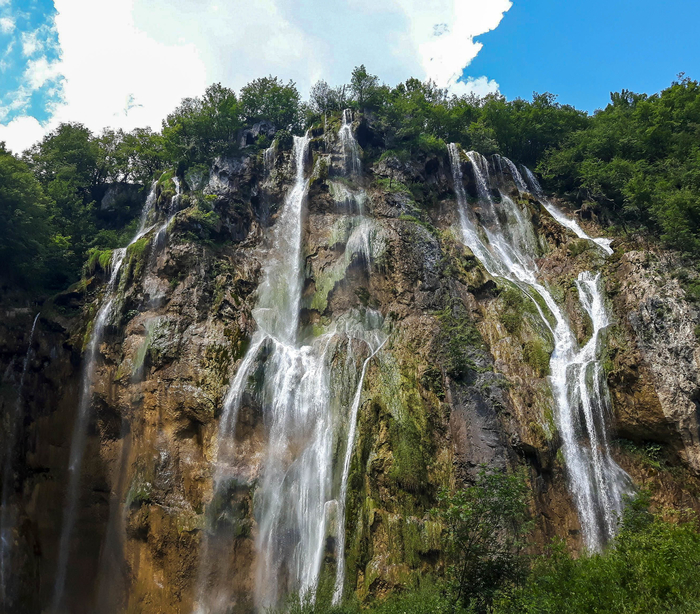 Veliki Slap or the Great Waterfall - the highest waterfall in the Plitvice Lakes National Park