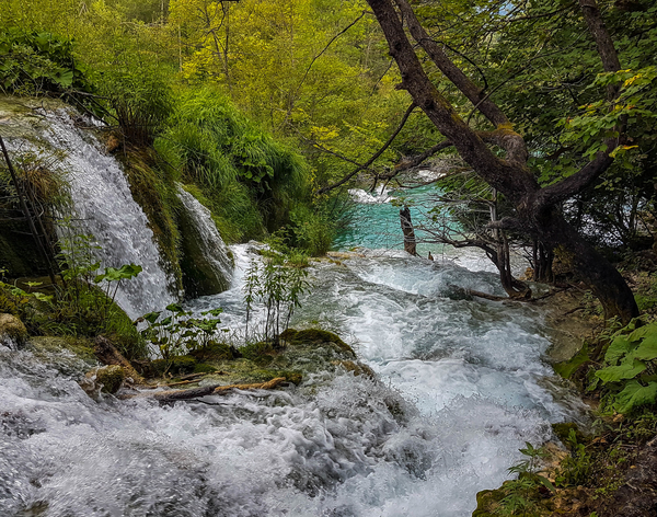 Beautiful waterfalls in Plitvice Lakes