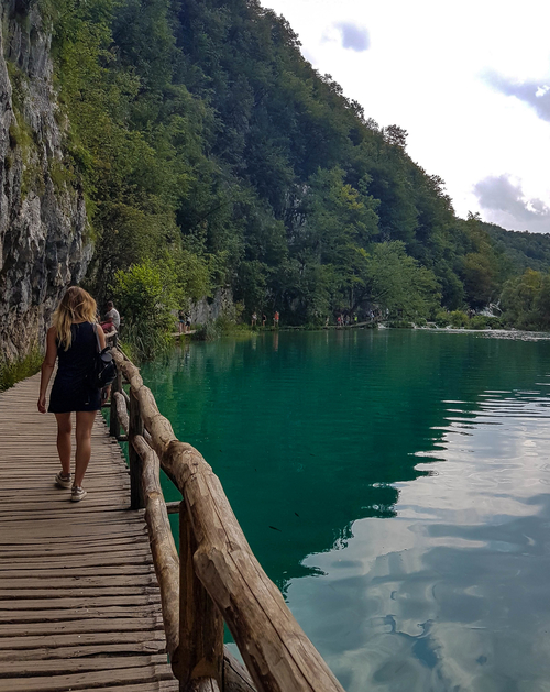 Thew view along boardwalk in Plitvice Lakes National Park