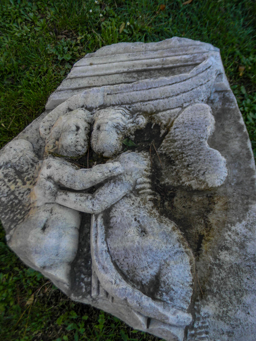 Two-angels-a-piece-of-ancient-art-in-Salona-Croatia