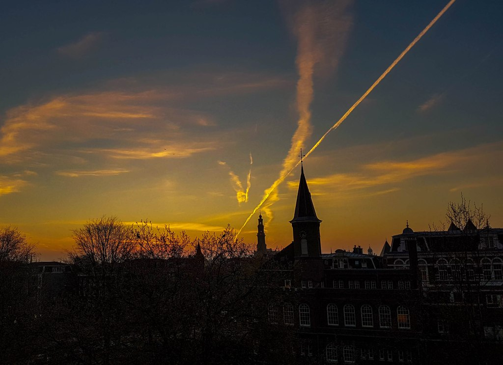 One more sunset from my previous apartment in Nassaukade, Amsterdam West