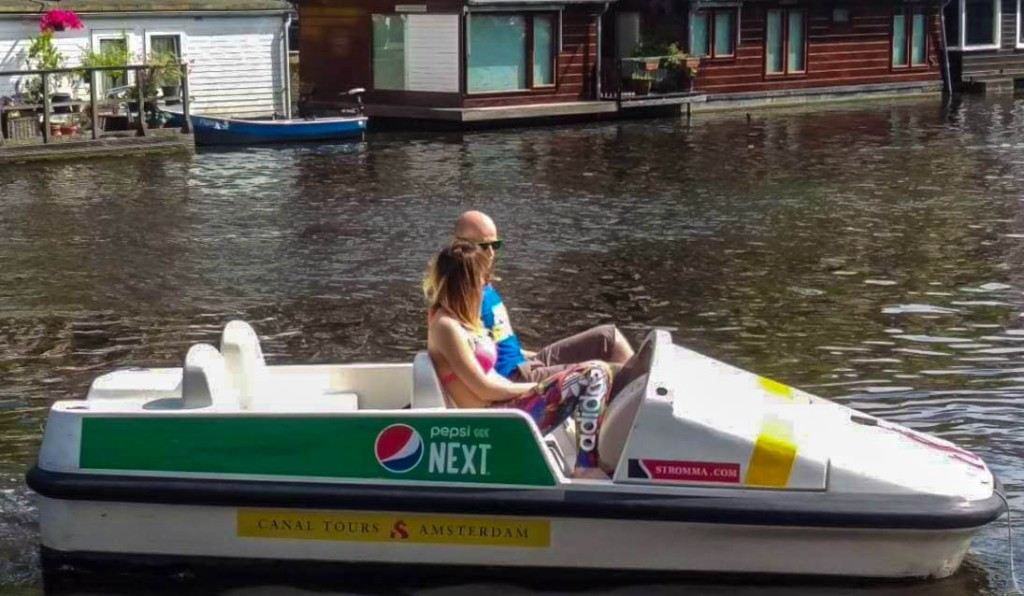 Stromma pedal boat cruise around Amsterdam canals