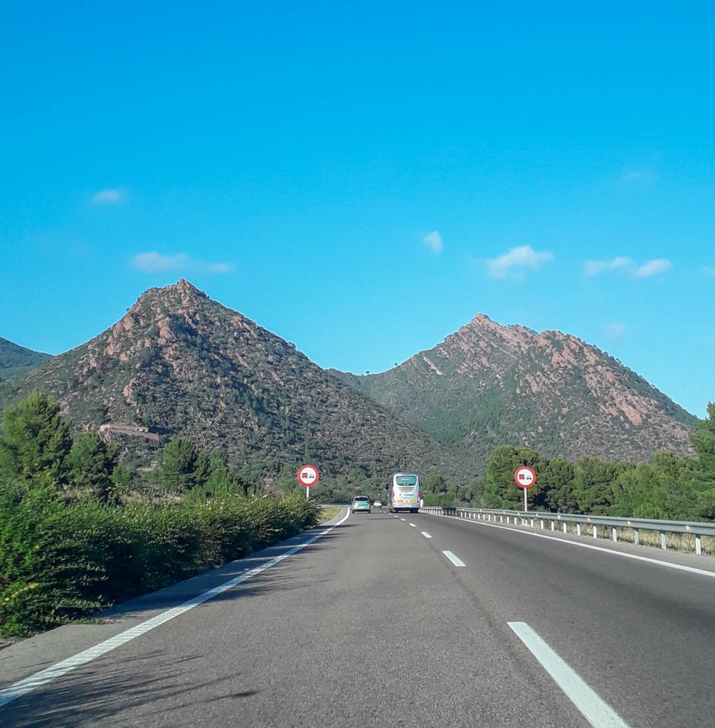 Extraordinary landscape along Catalonia highway