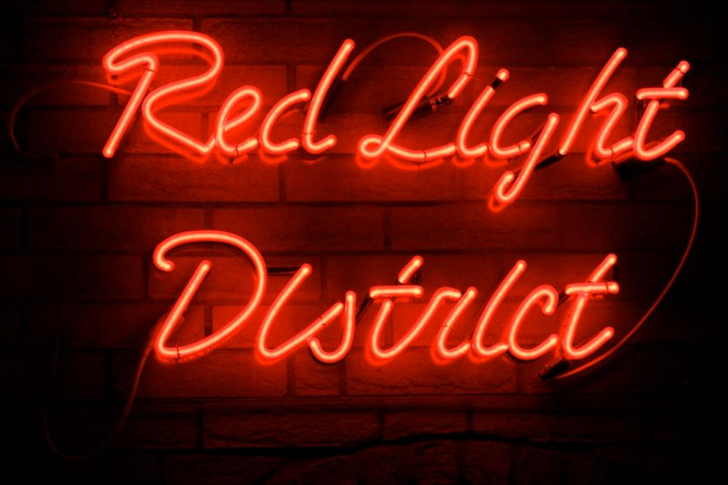 Red Light District sign