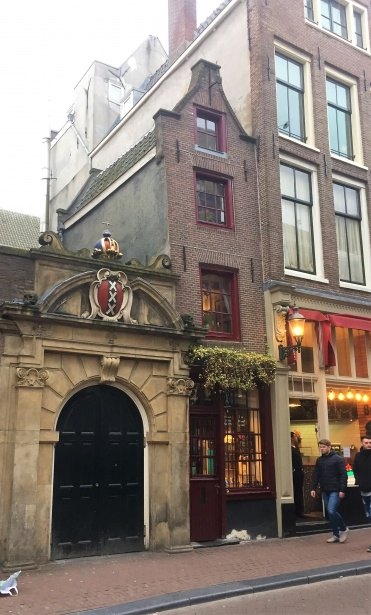 The smallest house and tea dining room in Amsterdam