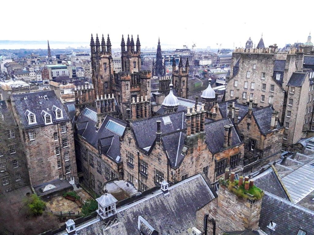 Edinburgh castle in metropola of Scotland