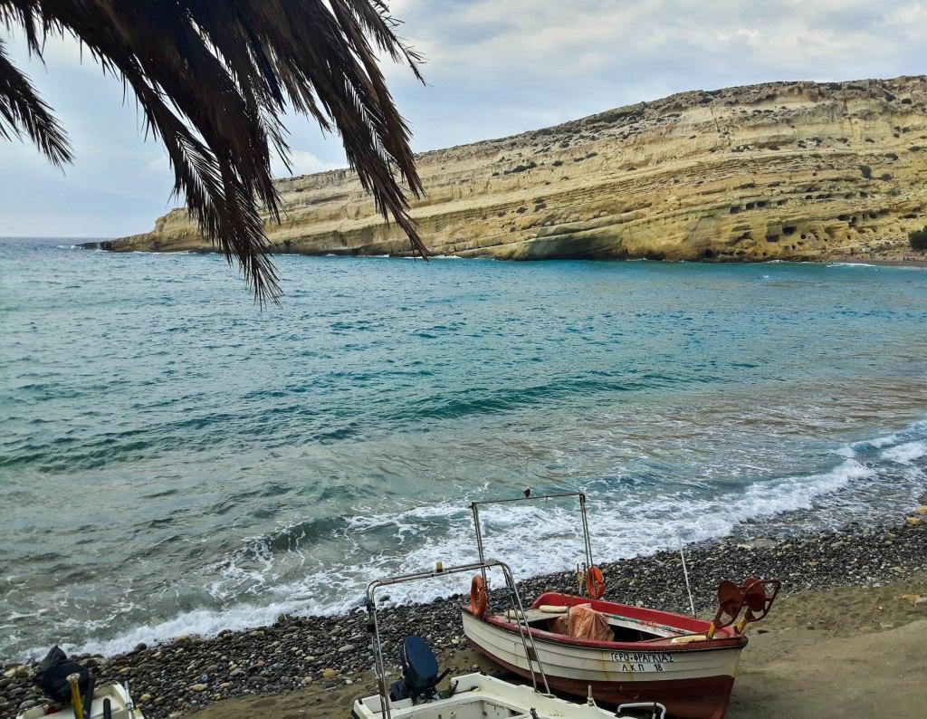 Matala village in Crete island
