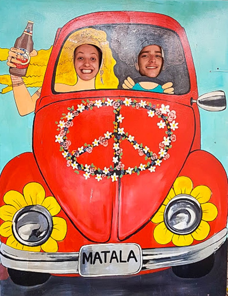 Matala village funny poster