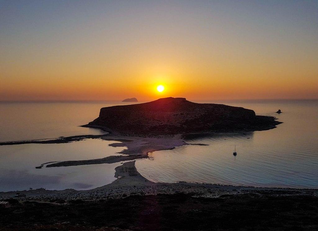 Balos Lagoon in Crete island