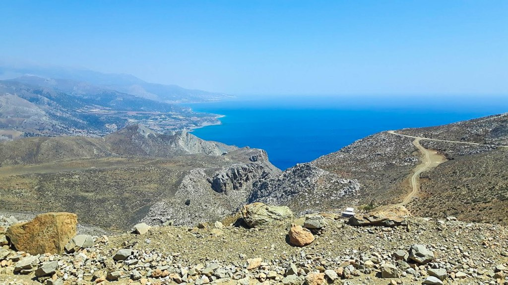 An amazing scenery of Crete island in Greece