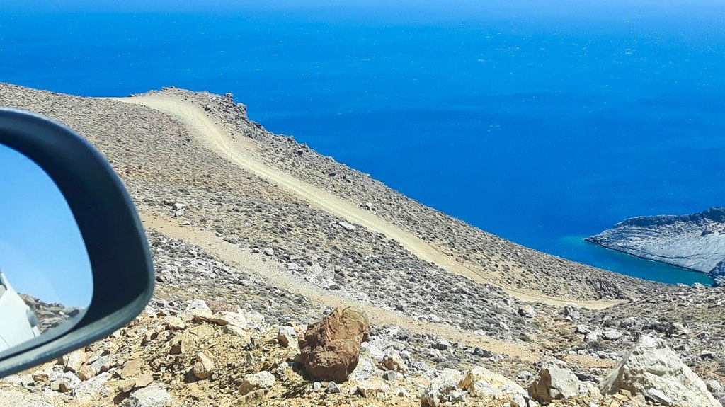 Roads across Crete island in Greece