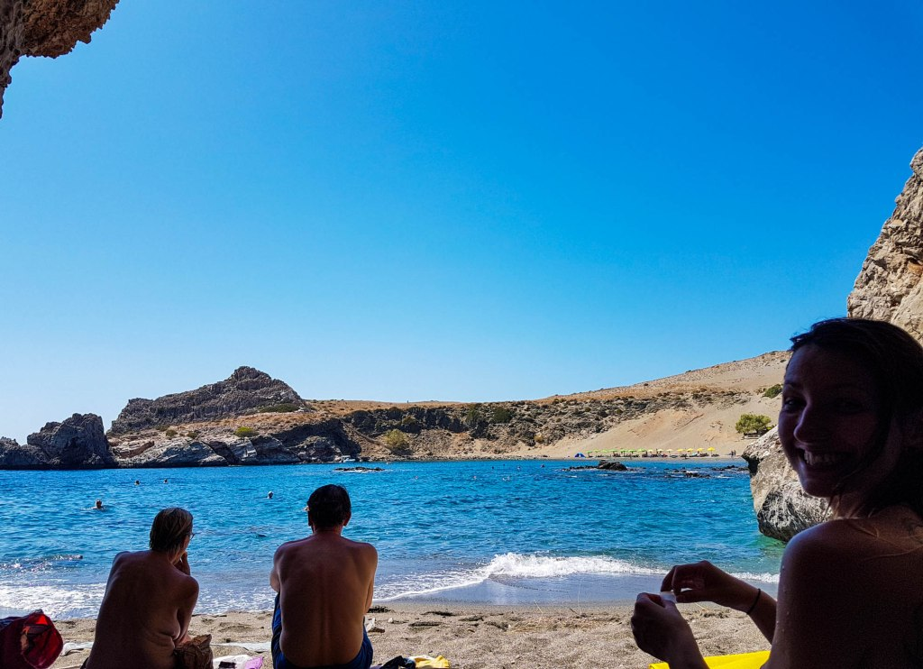 Crete island beach