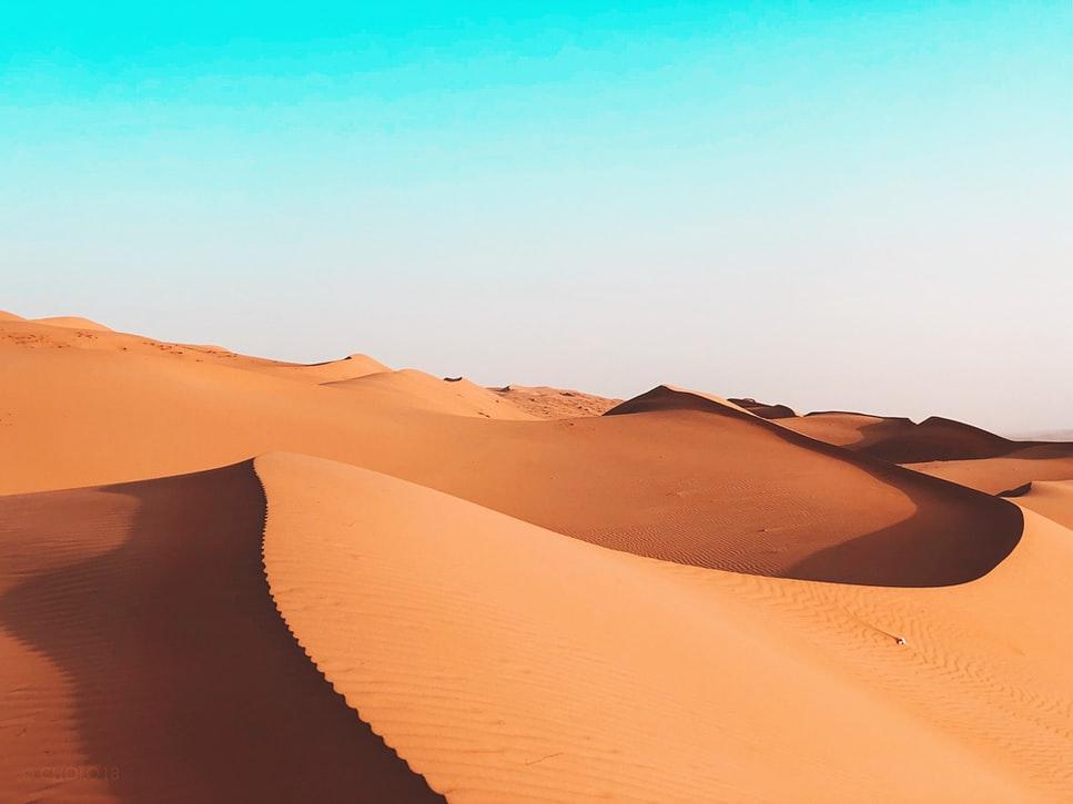 Desert dunes in Oman