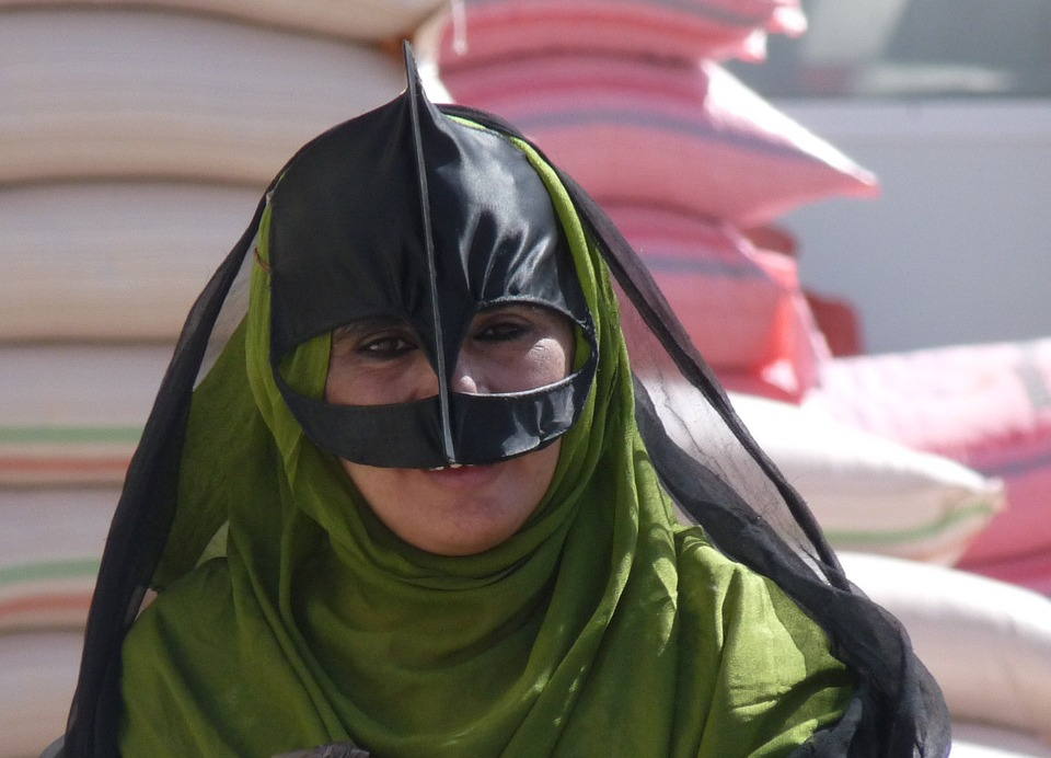 Traditional clothing of women in Oman