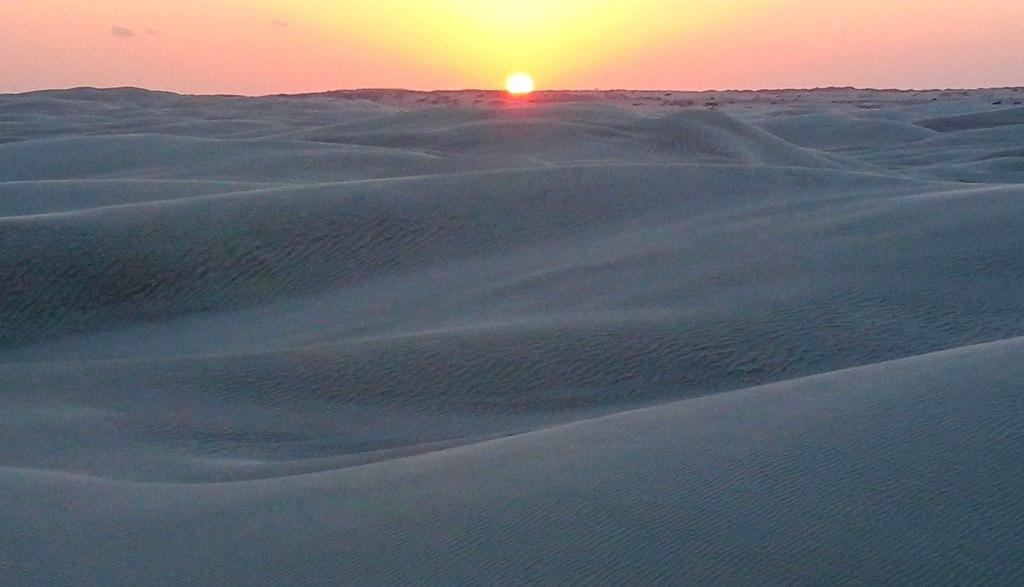 Sunset in Oman desert