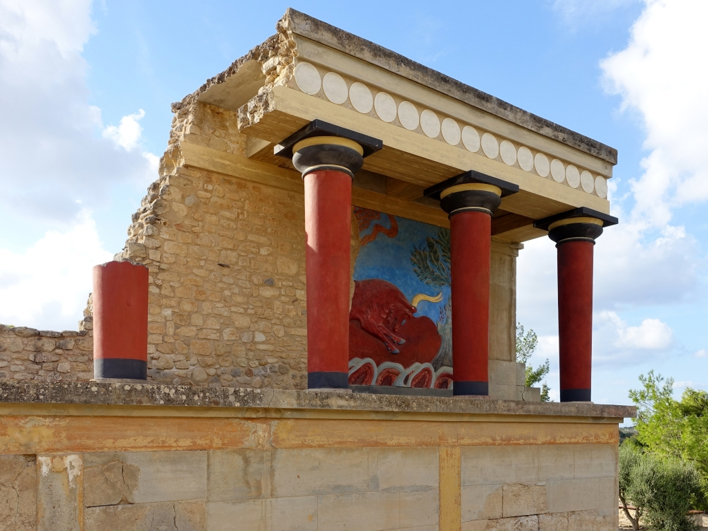 The Palace of Knossos in the south of Heraklion