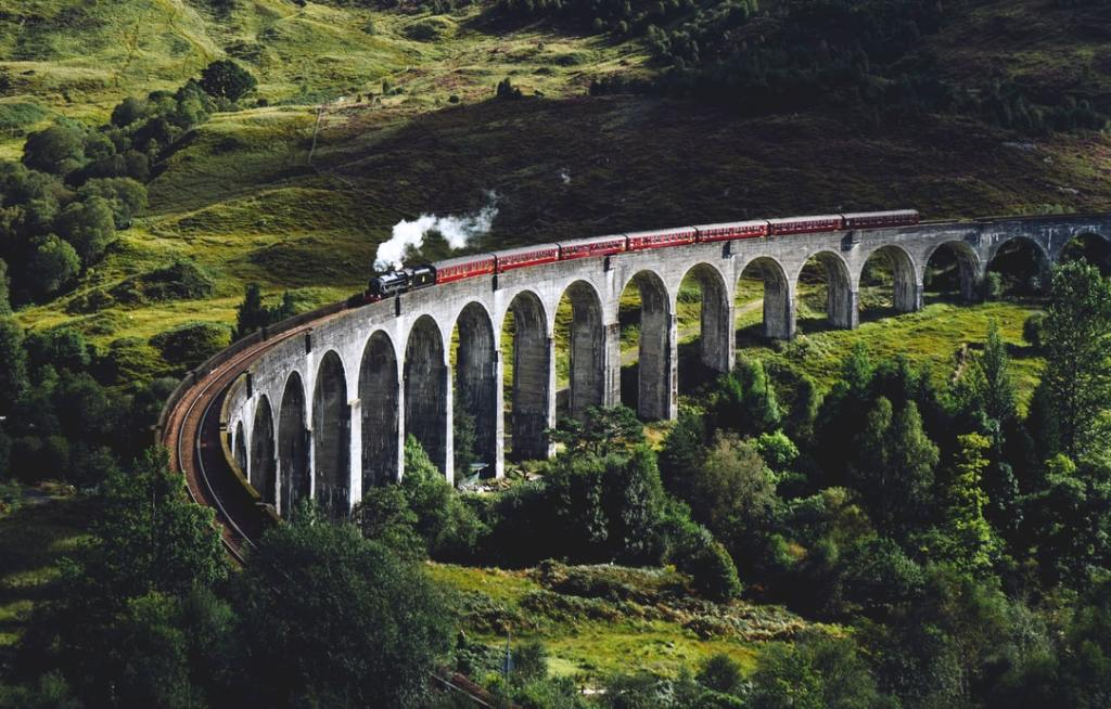 Train along Scotland's landscape