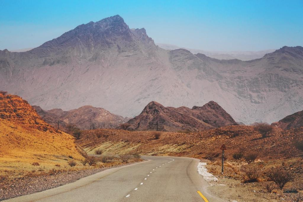 Krajolik i planine daleke države Oman