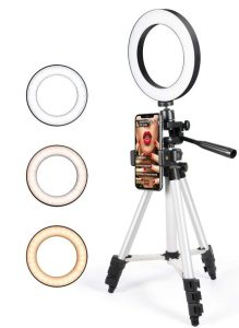 Tripod with a LED light perfect for live streaming, YouTube videos, Make up tutorials etc