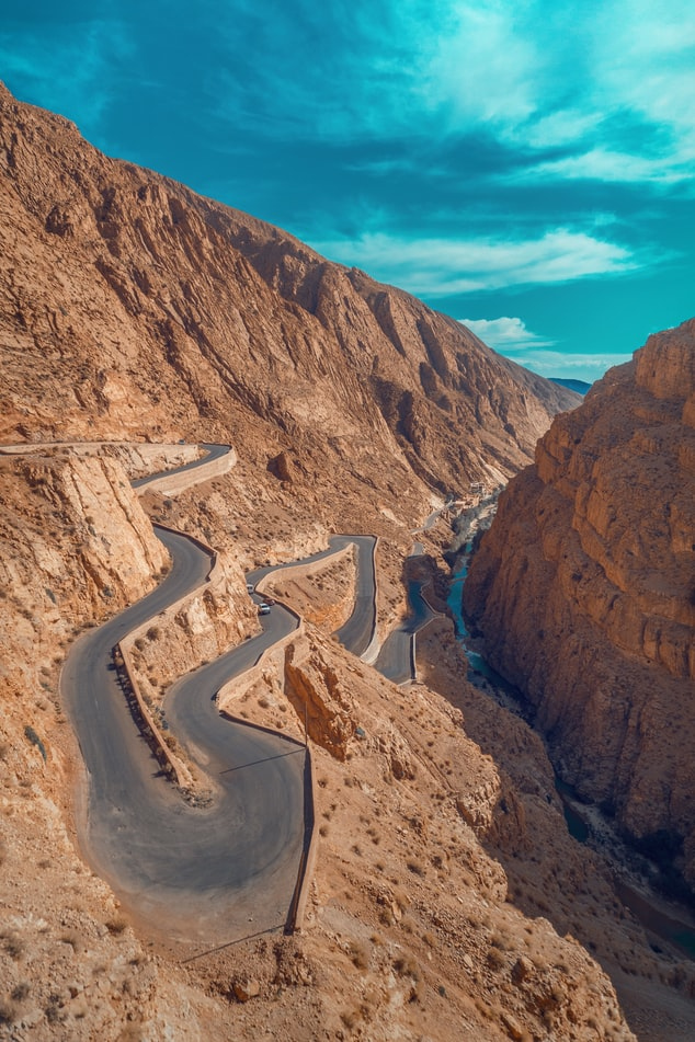Tisdrine road in Morocco