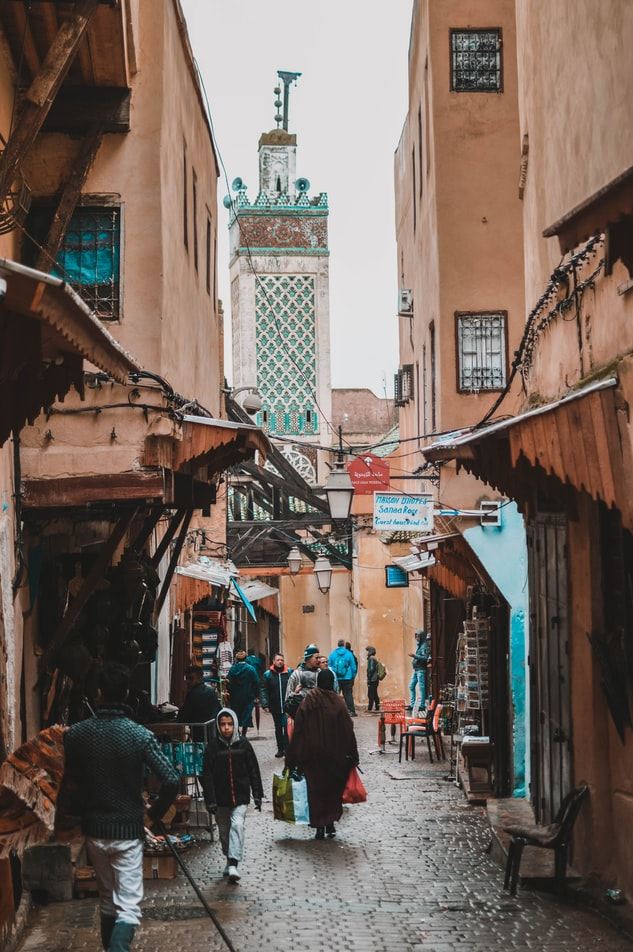 The city of Fez in Morocco