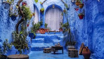 Plavi grad u Maroku u Africi