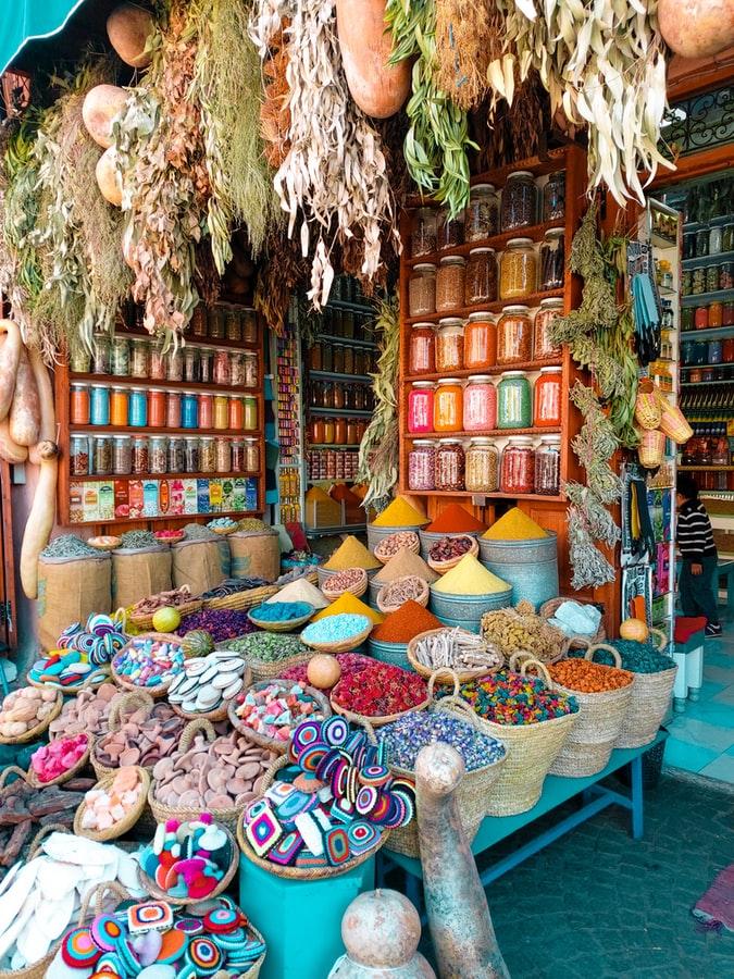 Market in Marakesh Morocco