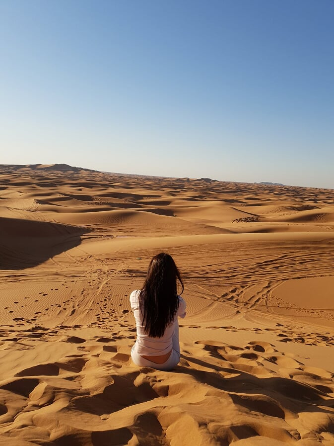 A girl in the desert