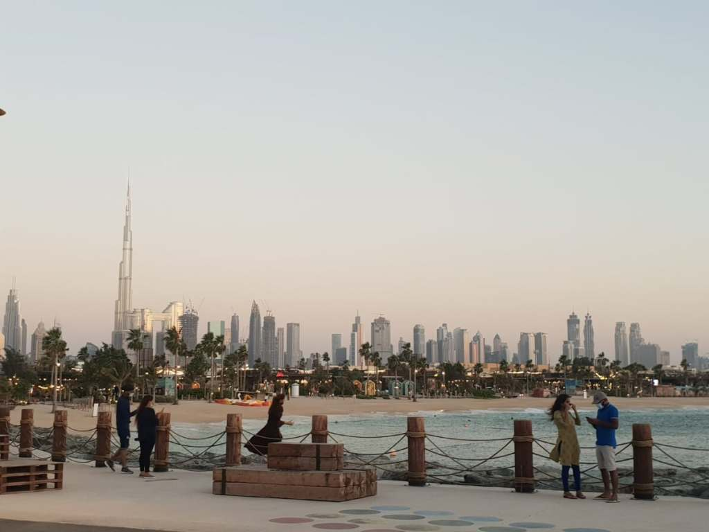 Beach view in Dubai UAE