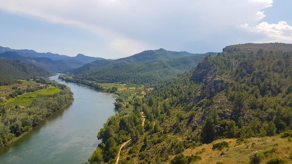 Ebro river from Miravet castle
