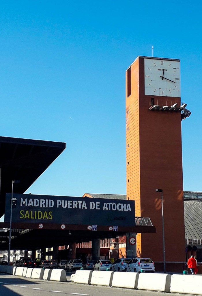 Atocha train station from the outside