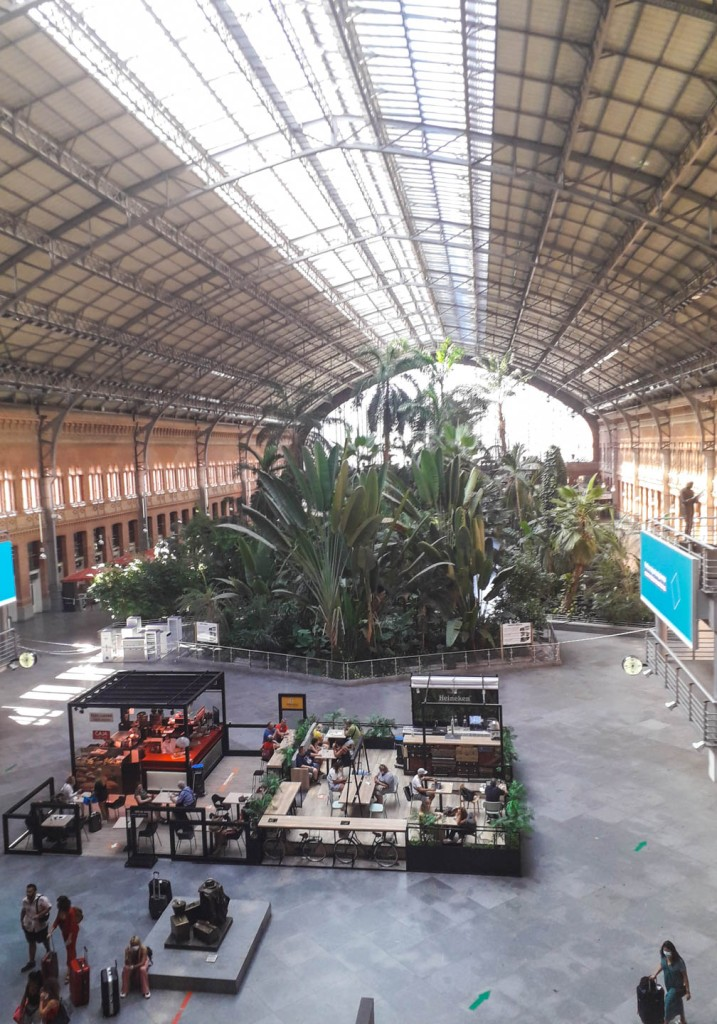 Atocha train station from the inside